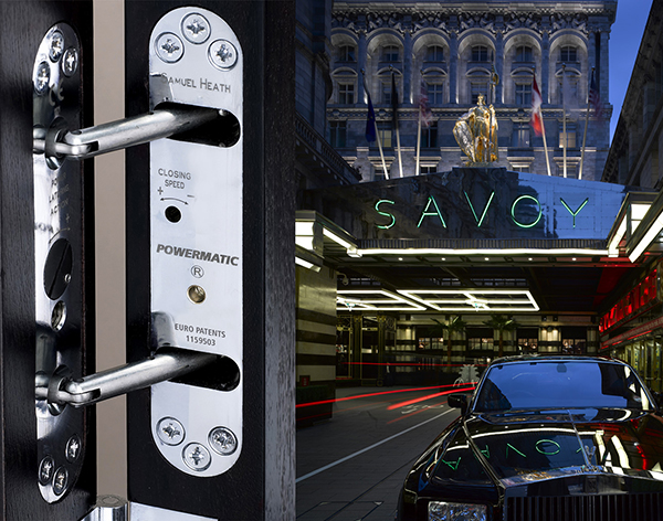 Powermatic controlled concealed door closers enhance looks sound insulation Savoy hotel : savoy doors exterior - pezcame.com