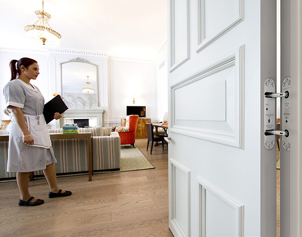 Samuel Heath Powermatic concealed door closers enhance aesthetics at boutique hotel
