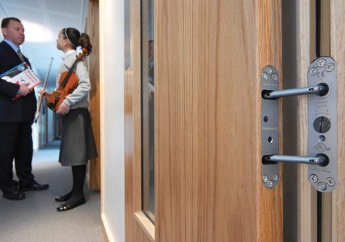 Powermatic Controlled Concealed Door Closer Enhanced Aesthetics Schools Colleges Universities Education