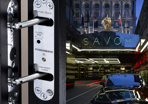 Powermatic Controlled Concealed Door Closers Enhance Looks Sound Insulation Savoy Hotel
