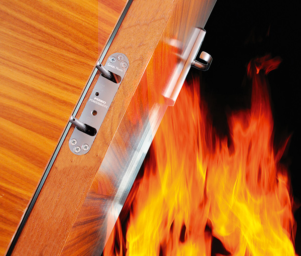 Powermatic controlled concealed jamb-mounted door closers are perfect for fire doors in hotels and many other situations