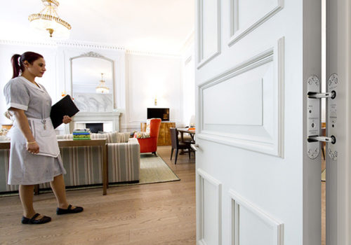 Samuel Heath Powermatic Controlled Concealed Door Closers Enhance Aesthetics At Boutique Hotel In London. Door Closers For Hotels