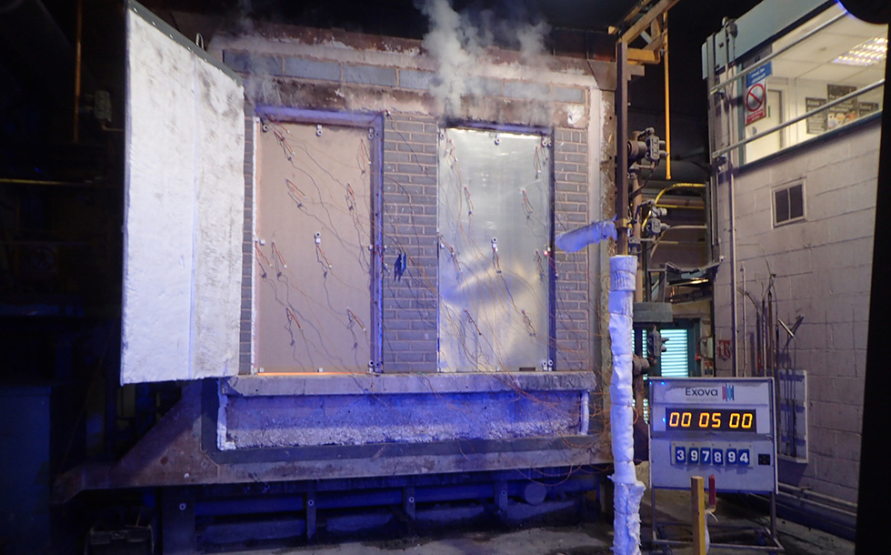 samuel heath; powermatic; concealed door closer; fire performance; FR240; steel fire door; FR30 timber fire door; full scale fire test;BS EN 1634-1